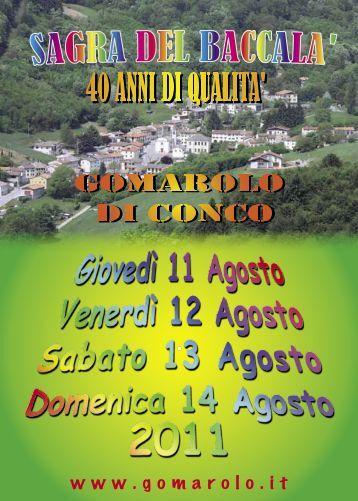 Volantino 2011 - Gomarolo
