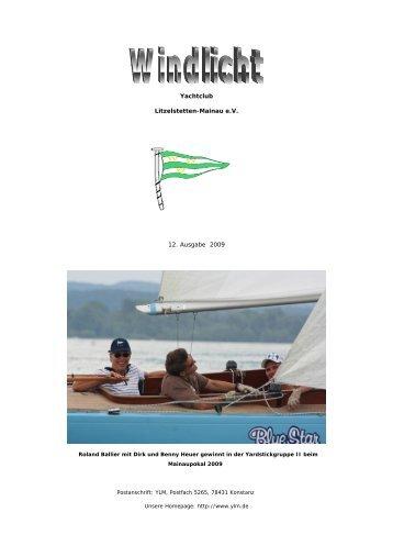 Ausgabe 12 - 2009 - Yachtclub Litzelstetten-Mainau eV
