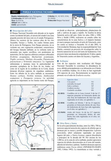 IBAs in the Tropical Andes – Venezuela (PDF 2,5 Mb)