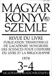 Magyar Könyvszemle 90. évf. 1974. 3-4. szám - EPA