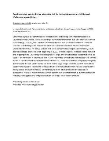 BEM 2013 All Poster Abstracts - Georgia Southern University ...