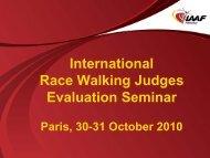 International Race Walking Judge - Fidal