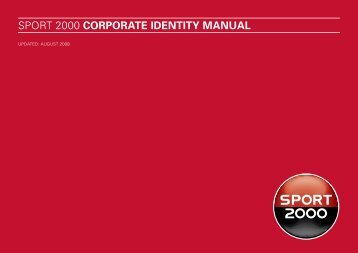 sport 2000 corporate IDeNtItY maNual - Mind Design