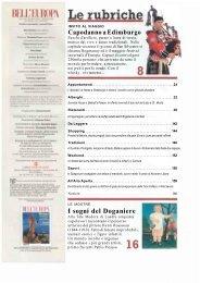 Sommario della rivista Bell'Europa 2007