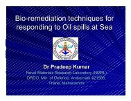 Bio-remed Oil spills - Indian Coast Guard