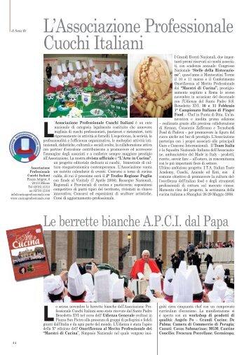 L'Associazione Professionale Cuochi Italiani - Zafferano.Org