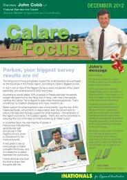 Calare in Focus - December 2012 - Parkes - John Cobb
