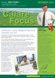 Calare in Focus - December 2012 - Cabonne - John Cobb
