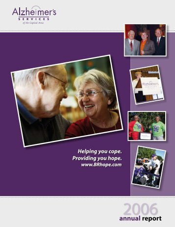 Annual Report 2006 - Alzheimer's Services of the Capital Area