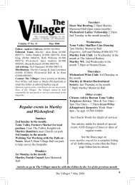May villager - Martley Village