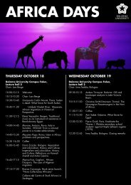 THUESDAY OCTOBER 18 WEDNESDAY OCTOBER 19