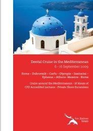 Dental Cruise in the Mediterranean - Jon Baines Tours Ltd