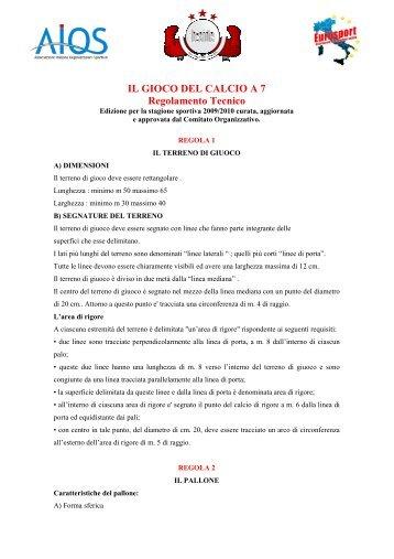 Regolamento Calcio a 7 - opes umbria