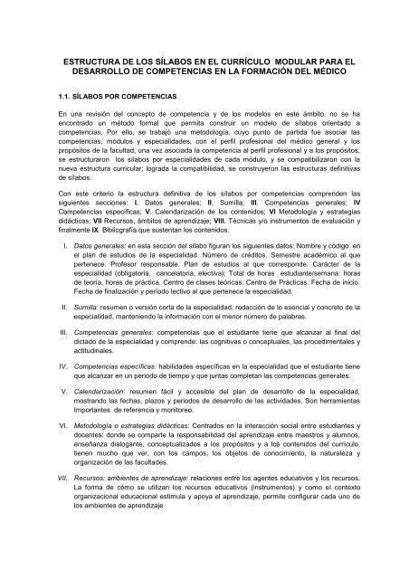Silabus Universidad Nacional Del Centro Del Perú