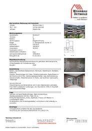 Barrierefreie Wohnung mit Fahrstuhl Straße - Wohnbau Detmold eG