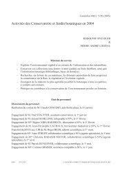 Activités des Conservatoire et Jardin botaniques ... - Ville de Genève