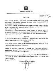 Rosa Brignoli , unico ufficiale giudiziario dell'ufficio Nep di elusone ...