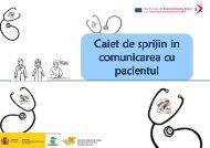 Caiet de sprijin in comunicarea cu pacientul
