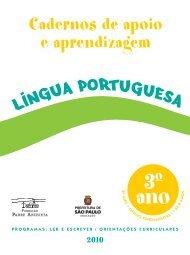 Cadernos de apoio e aprendizagem 3 o ano - Secretaria Municipal ...