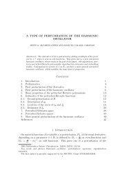 A TYPE OF PERTURBATION OF THE HARMONIC ... - Recercat