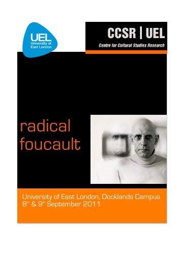 Radical Foucault programme final 2 - CCSR   UEL