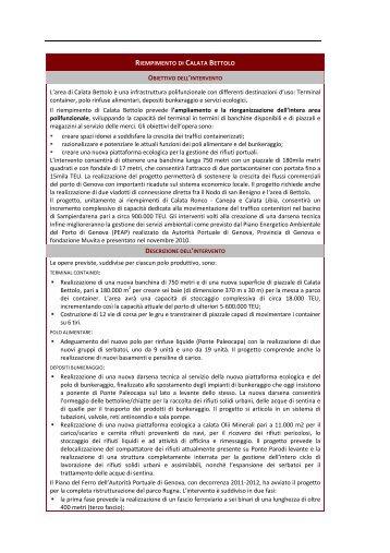 Riempimento di Calata Bettolo - Urban Center - Comune di Genova