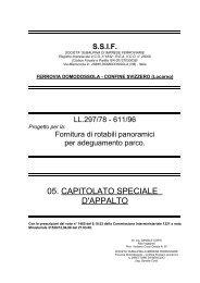 CAPITOLATO SPECIALE - PARTE TECNICA - Ferrovia Vigezzina
