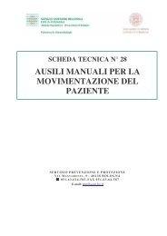 Ausili manuali per la movimentazione del paziente