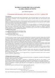 MATRICI E ISOMETRIE NELLO SPAZIO: un utilizzo ... - Matematica
