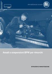 Assali e sospensioni BPW per rimorchi