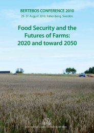 Food Security and the Futures of Farms: 2020 and toward 2050