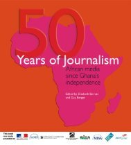 50 YEARS OF JOURNALISM: African media since - Highway Africa