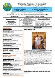 bulletin.7thApril.2013 - Diocese of Broken Bay