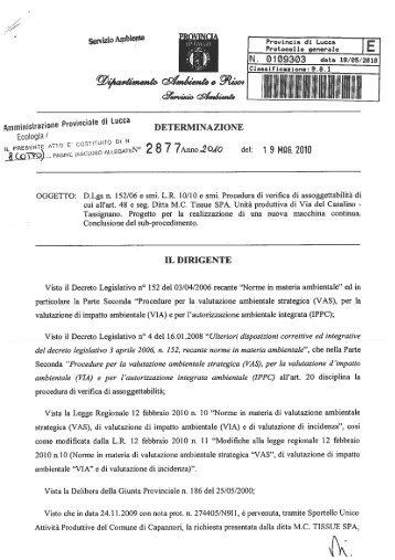MC Tissue S.p.A. - Provincia di Lucca