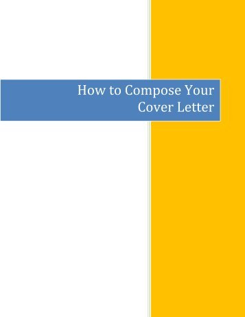 How To Compose Your Cover Letter   Ryerson University  How To Compose A Cover Letter
