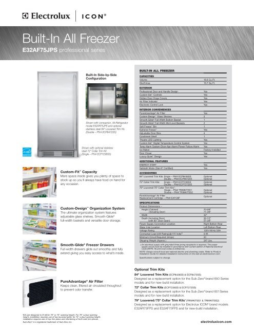 Built-In All Freezer