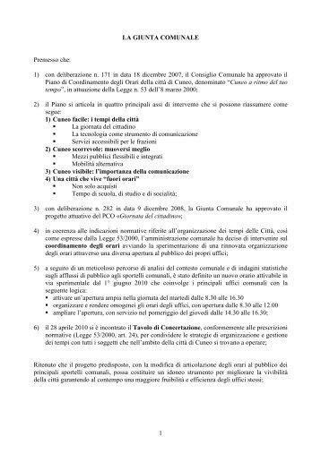 n. 134 del 25 maggio - Comune di Cuneo