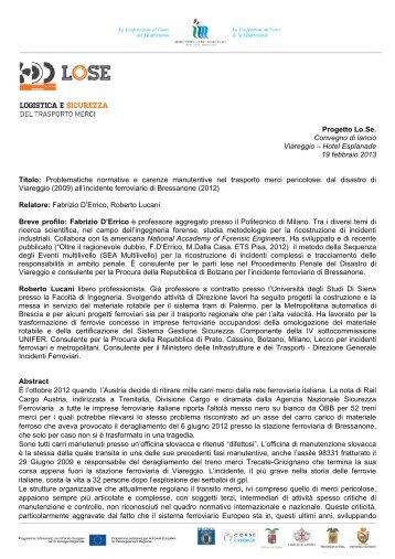 Abstract - Provincia di Lucca