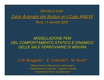 Modellazione FEM del comportamento statico e dinamico delle sale ...