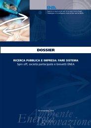 dossier ricerca pubblica e impresa: fare sistema - Portale UTT - Enea