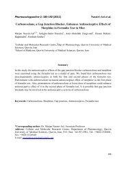 Pharmacologyonline 2: 185-192 (2011) assiri-Asl et al ...