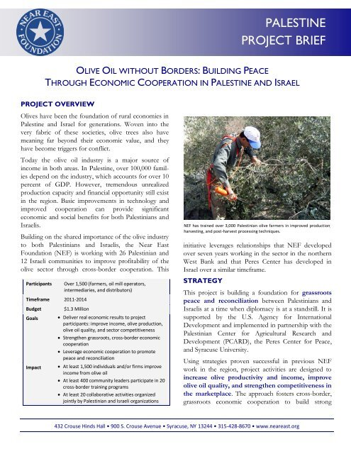 Cross-border Collaboration with Israel through the Olive Industry