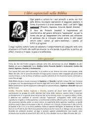 I libri sapienziali nella Bibbia - Benvenuti nel sito dei ragazzi della ...