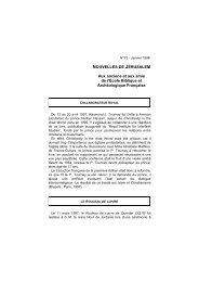 Lettre de Je-rusalem 01-98 - Ecole biblique et archéologique ...