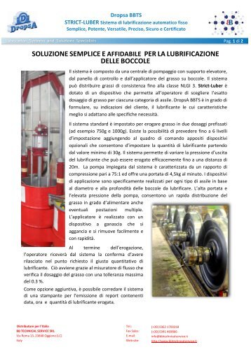 presentazione dettagliata - BB Technical Service