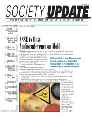 ASSEto Host Audioconference on Mold - American Society of Safety ...