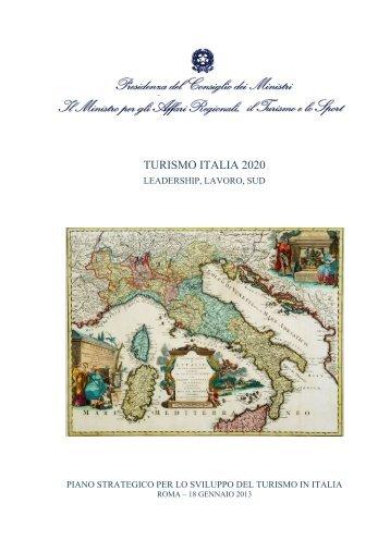 TURISMO ITALIA 2020 - Governo Italiano