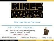 MINLP Wars - LNMB