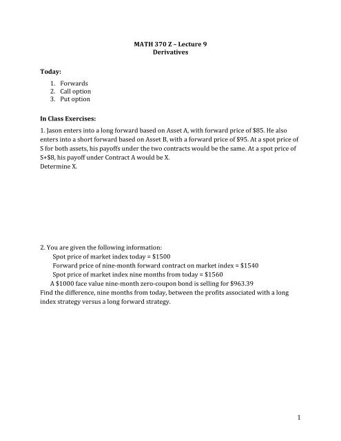 long forward contract