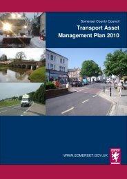 Transport Asset Management Plan (TAMP) 2010 - Somerset County ...